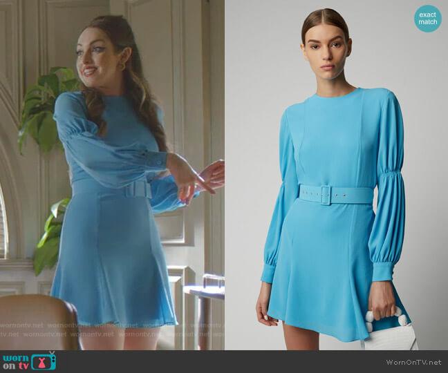 Philippa Mini Dress by Emilia Wickstead worn by Fallon Carrington (Elizabeth Gillies) on Dynasty