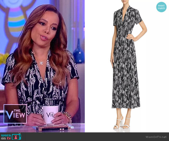 Gaetan Printed Dress by Equipment worn by Sunny Hostin (Sunny Hostin) on The View