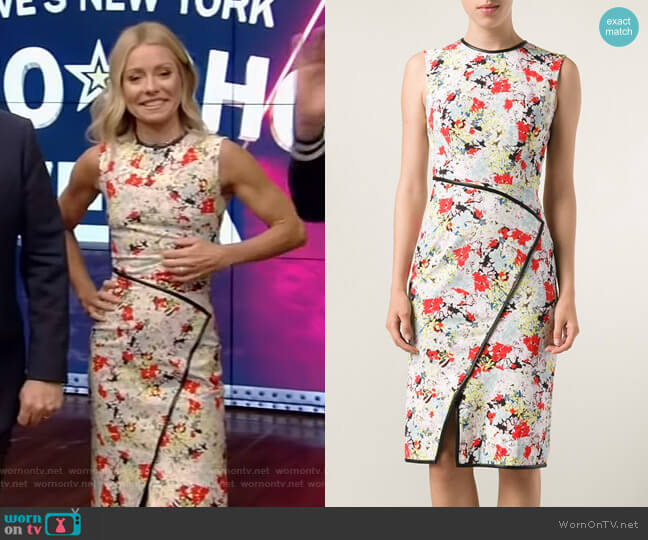 Floral Kimono Dress by Erdem worn by Kelly Ripa  on Live with Kelly & Ryan