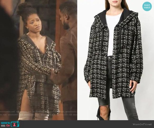Hooded Tweed Coat by Faith Connexion worn by Gigi (Keke Palmer) on Star