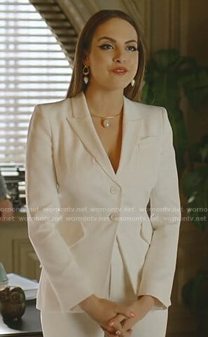 Fallon's white suit on Dynasty