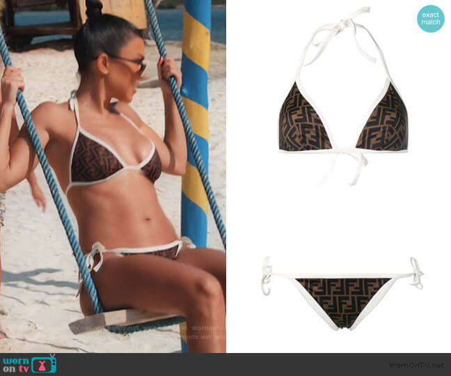 Reversible FF Logo Bikini worn by Kourtney Kardashian  on Keeping Up with the Kardashians