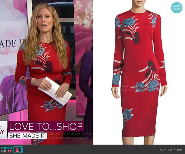 Floral Sheath Dress by Diane von Furstenberg worn by Jill Martin  on Today