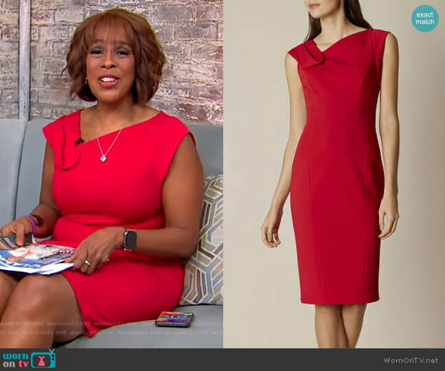 Fold-Detail Pencil Dress by Karen Millen worn by Gayle King  on CBS This Morning