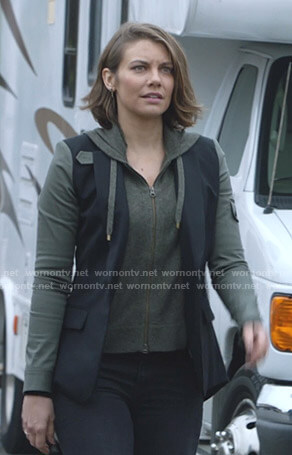 Frankie's green and navy blazer on Whiskey Cavalier