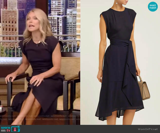 Freya Dress by Cefinn worn by Kelly Ripa  on Live with Kelly & Ryan