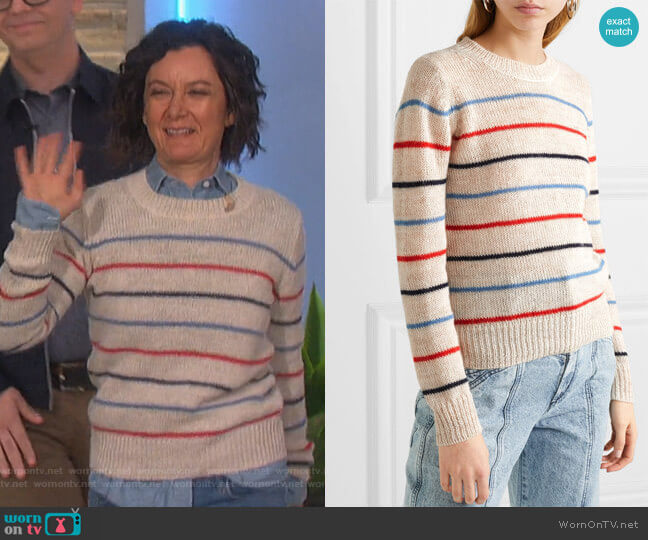 Gian striped alpaca sweater by Isabel Marant Etoile worn by Sara Gilbert  on The Talk