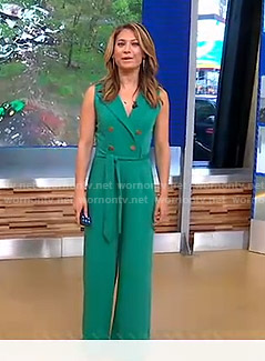 Ginger's green jumpsuit on Good Morning America