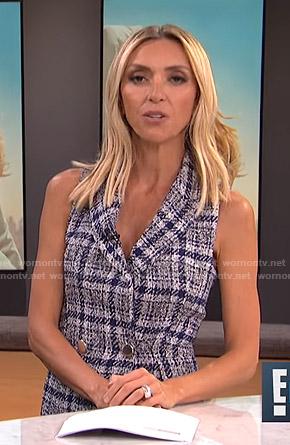 Giuliana's blue plaid dress on E! News