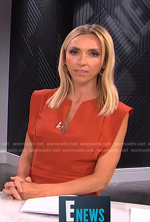 Giuliana's orange v-neck mini dress on E! News