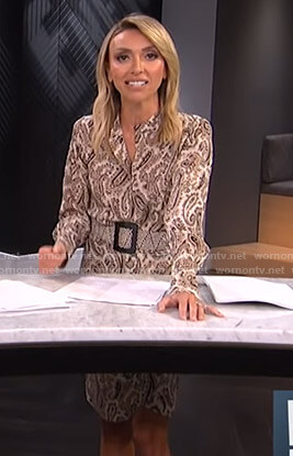 Giuliana's paisley print shirtdress on E! News