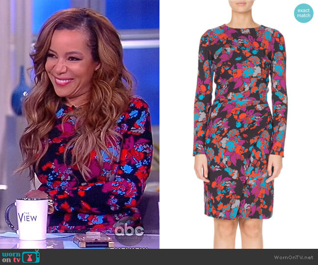Ruched Waist Floral Print Dress by Givenchy worn by Sunny Hostin  on The View