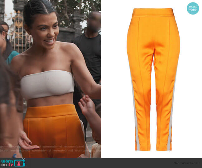 Casual Pants by Haider Ackerman worn by Kourtney Kardashian  on Keeping Up with the Kardashians