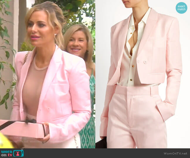 Mercure Linen-Blend Cropped Jacket by Haider Ackermann worn by Dorit Kemsley  on The Real Housewives of Beverly Hills