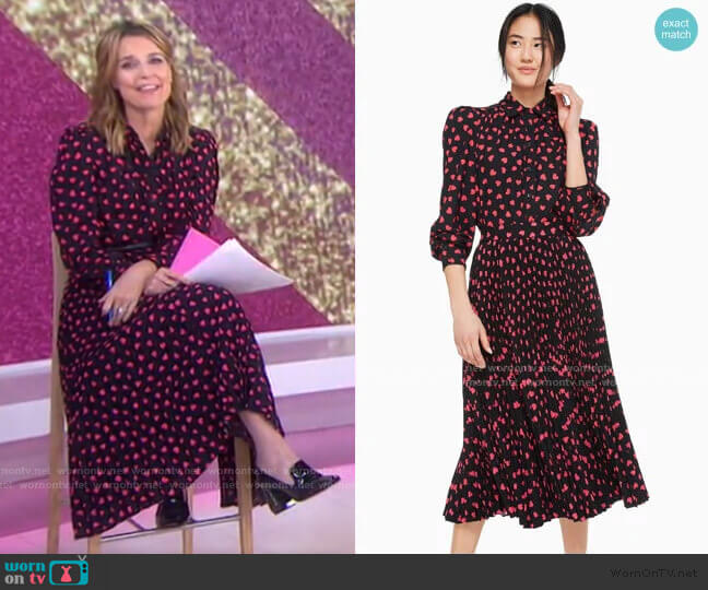 Heartbeat Blouse and skirt by Kate Spade worn by Savannah Guthrie  on Today