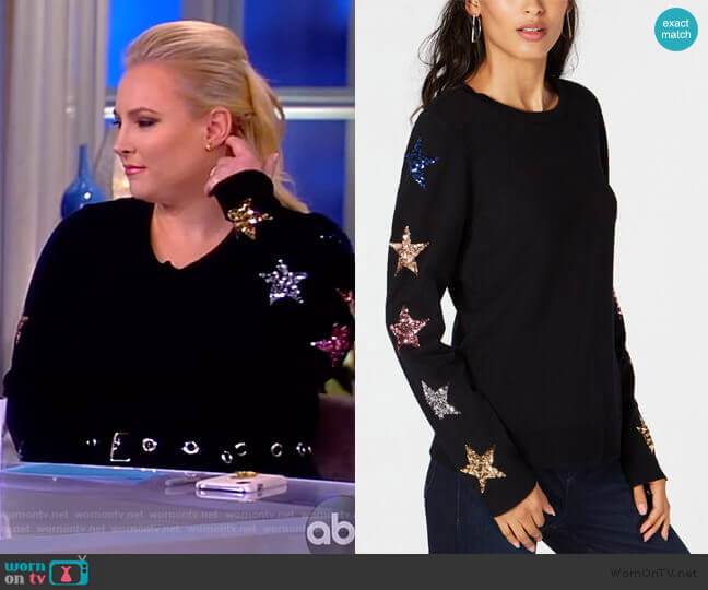 Sequin-Star Sweater by INC International Concepts worn by Meghan McCain  on The View