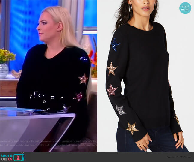 Sequin-Star Sweater by INC International Concepts worn by Meghan McCain (Meghan McCain) on The View