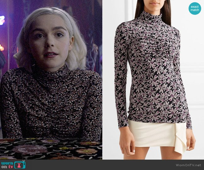 Isabel Marant Etoile Truey Top worn by Sabrina Spellman (Kiernan Shipka) on Chilling Adventures of Sabrina