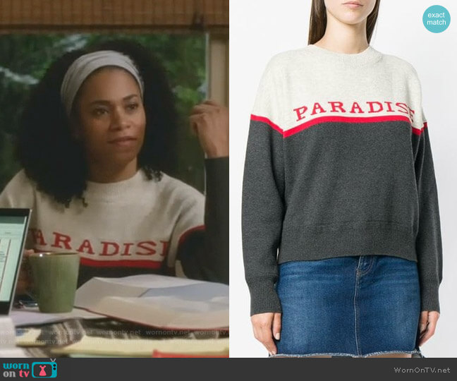 Paradise sweater by Isabel Marant Étoile worn by Maggie Pierce (Kelly McCreary) on Greys Anatomy