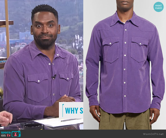 Vigo Shirt by Isabel Marant worn by Justin Sylvester  on E! News