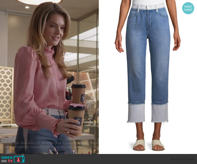 Wynne High-Rise Cropped Straight-Leg Jeans by J Brand worn by Sutton (Meghann Fahy) on The Bold Type