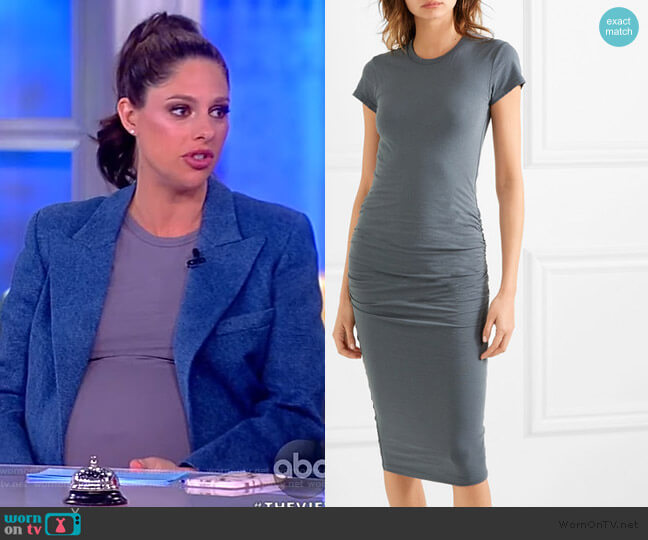 Draped stretch-cotton jersey midi dress by James Perse worn by Abby Huntsman  on The View