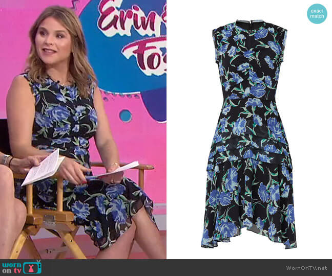 Printed Fit and Flare Day Dress by Jason Wu worn by Jenna Bush Hager  on Today