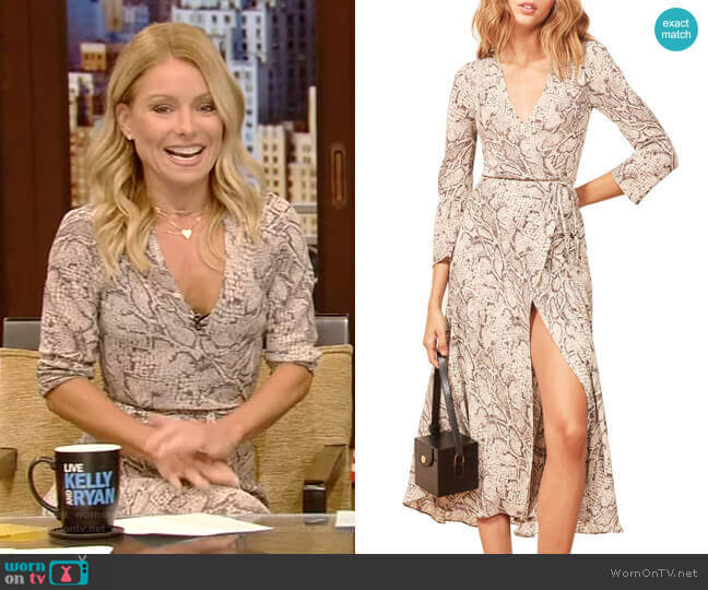 Jaz Dress by Reformation worn by Kelly Ripa  on Live with Kelly & Ryan