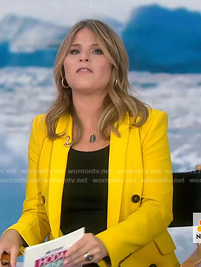 Jenna's yellow blazer on Today