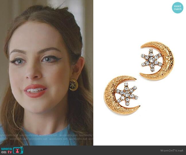 Callisto Earrings by Jennifer Behr worn by Fallon Carrington (Elizabeth Gillies) on Dynasty