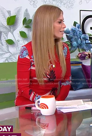 Jill's red floral dress on Today
