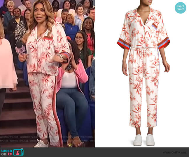 Bayley Floral-Print Blouse and Pants by Joie worn by Wendy Williams  on The Wendy Williams Show