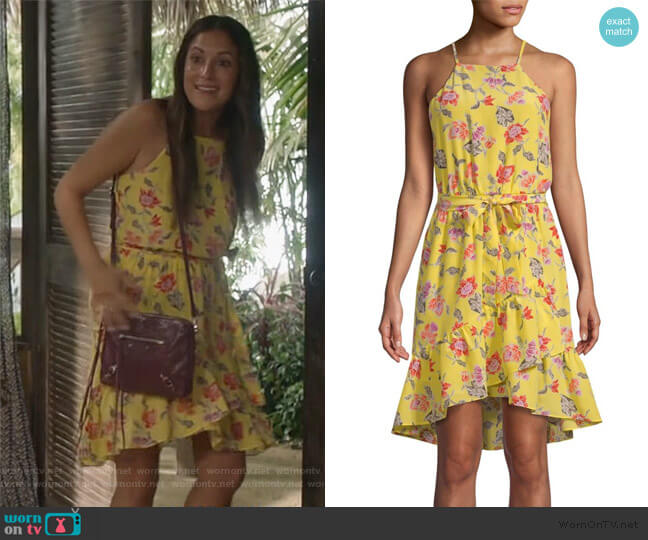 Deme Floral Dress by Joie worn by Colleen Brandon-Ortega (Angelique Cabral) on Life in Pieces