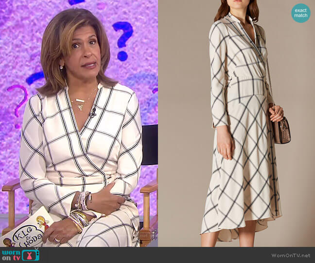 Check Shirt Midi Dress by Karen Millen worn by Hoda Kotb  on Today