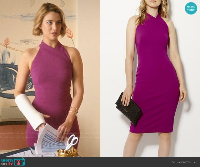 Karen Millen Cutout Pencil Dress  worn by Petra Solano (Yael Grobglas) on Jane the Virgin