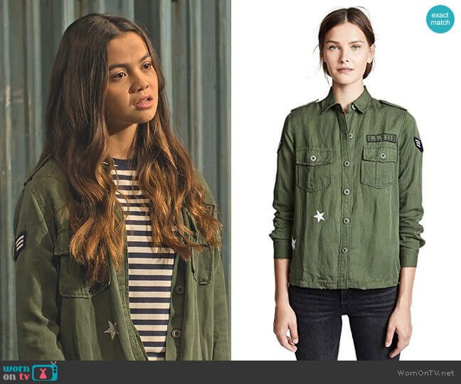 Rails Kato Military Shirt worn by Nick (Siena Agudong) on No Good Nick