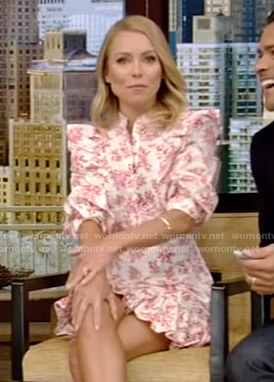 Kelly's white floral mini dress on Live with Kelly and Ryan