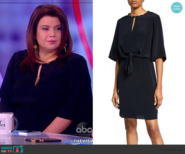 Mallory Elbow-Sleeve Silk Dress by Kobi Halperin worn by Ana Navarro  on The View