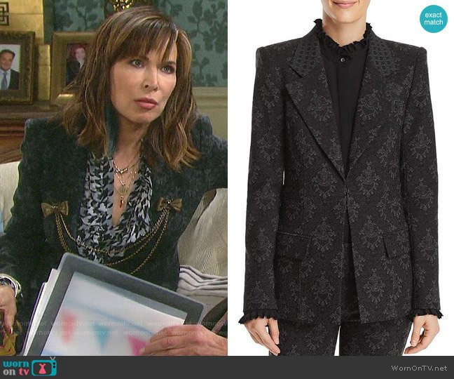 Kobi Halperin Porsha Printed Blazer worn by Kate Roberts (Lauren Koslow) on Days of our Lives