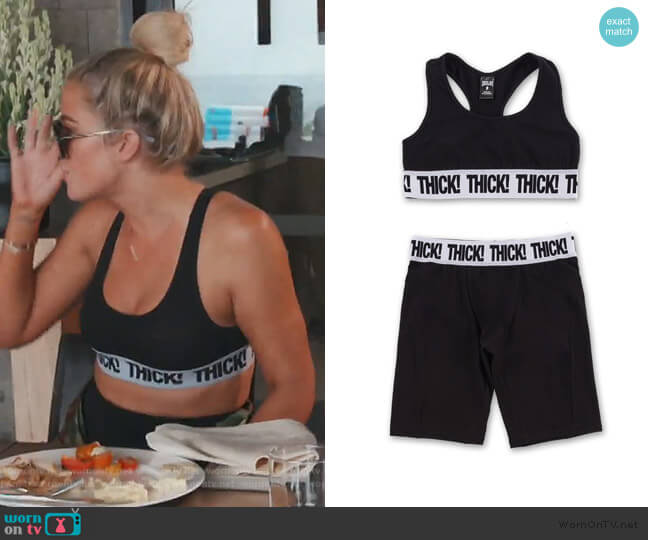 Thick! Sports Set by Kylie Jenner worn by Khloe Kardashian  on Keeping Up with the Kardashians