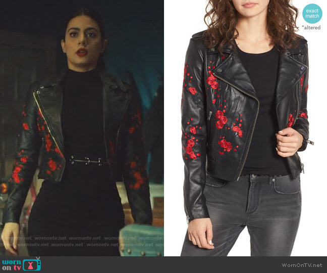 Donna Leather Jacket by Lamarque worn by Isabelle Lightwood (Emeraude Toubia ) on Shadowhunters