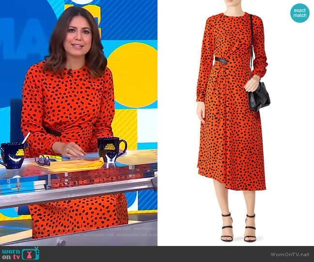 Lawton Dress by Hunter Bell worn by Cecilia Vega  on Good Morning America