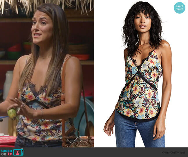 Hibiscus Cami by Le Superbe worn by Colleen Brandon-Ortega (Angelique Cabral) on Life in Pieces