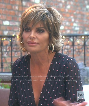 Lisa's black printed jumpsuit on The Real Housewives of Beverly Hills