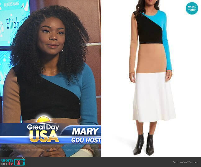 Long-Sleeve Dress by Diane von Furstenberg worn by Mary Jane Paul (Gabrielle Union) on Being Mary Jane