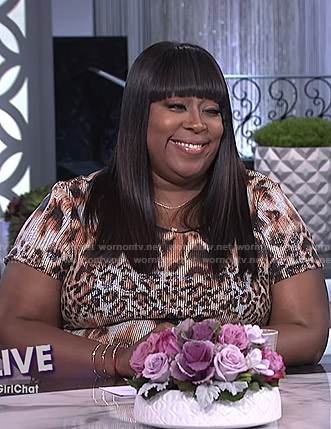 Loni's leopard print ribbed dress on The Real
