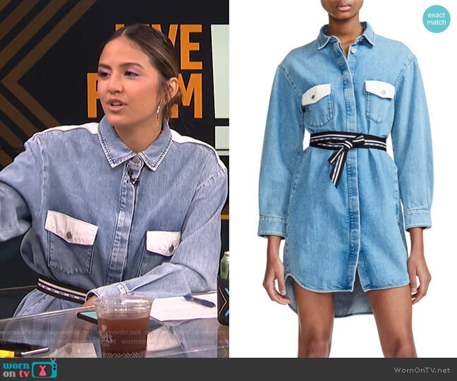 Relmi Shirtdress by Maje worn by Erin Lim  on E! News