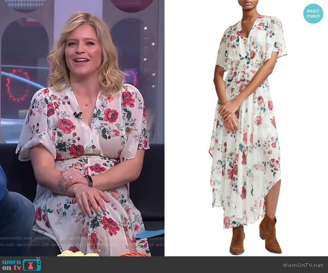 Rachelle Dress by Maje worn by Sara Haines  on Good Morning America