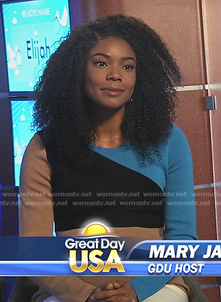 Mary Jane's colorblock knit dress on Being Mary Jane