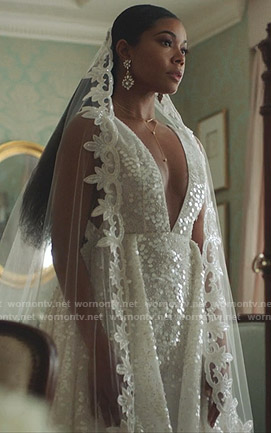 Mary Jane's wedding dress on Being Mary Jane